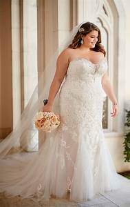 plus size vintage lace wedding dress stella york With plus size retro wedding dresses
