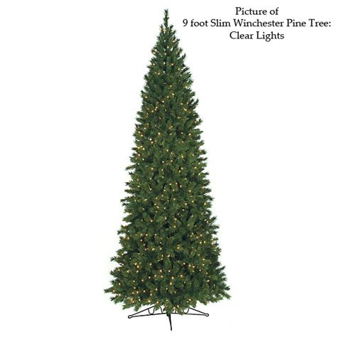 9 foot slim winchester pine tree warm white led
