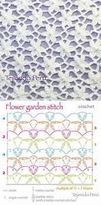 Crochet  Flower Garden Stitch Diagram