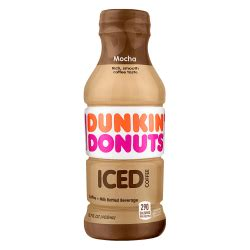 The dark roast at least has some so if i do get an iced coffee i get it oreo flavored, but if it's not made right i can't drink it. Dunkin Donuts Iced Coffee Mocha 13.7 Oz - Office Depot