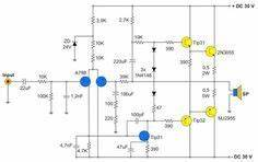 400w amplifier with 2n3055 mj2955 audio circuit With mono power amplifier a1015 bd140 tip2955 circuit diagram