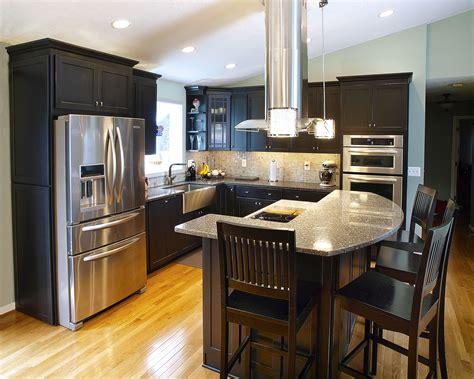 contemporary eat  kitchen renovation bel air