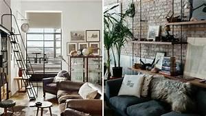 Deco Maison Industriel : inspiration d co 2 se cr er un salon loft industriel ~ Teatrodelosmanantiales.com Idées de Décoration