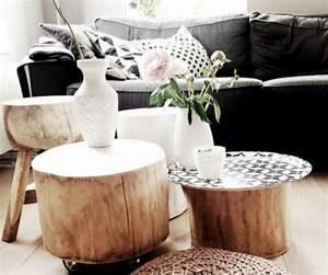Table Basse Tronc : comment fabriquer une table basse avec un tronc d 39 arbre diy ~ Teatrodelosmanantiales.com Idées de Décoration