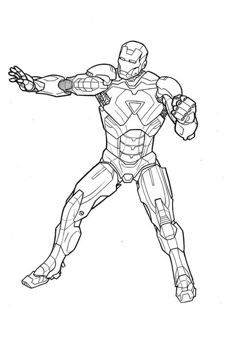 Iron Coloring Pages Printable by Ironman Coloring Pages To And Print For Free