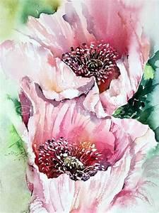 Aquarell Malen Blumen : ber ideen zu blumen aquarell auf pinterest ~ Articles-book.com Haus und Dekorationen