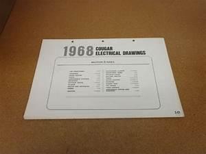 1968 Mercury Cougar Wiring Diagram Sheet Schematics