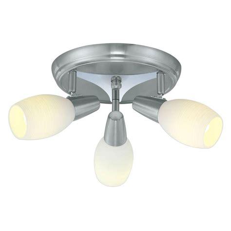 eglo parma 3 matte nickel ceiling lighting fixture