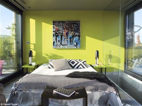 chambre design mur vert murs verts