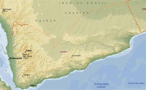 Jemen - Karte