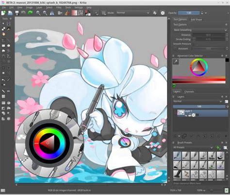 krita  cool software  digital drawing