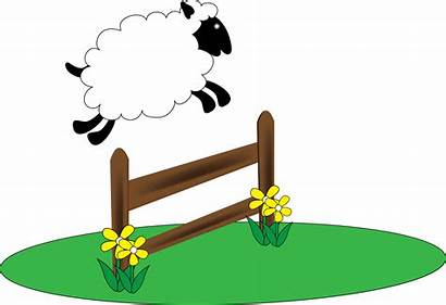 Sheep Clipart Insomnia Counting Cartoon Clip Well
