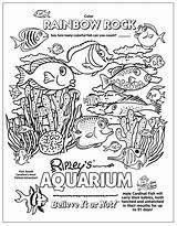 Coloring Pages Aquarium Tank Beach Underwater Ripley Printable Ocean Sheets Ripleys Creatures Believe Myrtle Learning Explore Mermaid sketch template