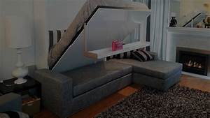 hidden beds beds that fold up provide storage save space With hidden sofa bed
