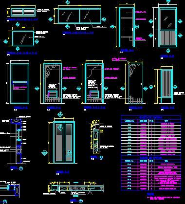 doors windows stairs plumbing electricaldetails dwg
