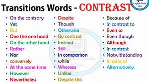 Transition Words For Contrast Transition Words Archives English Study Here
