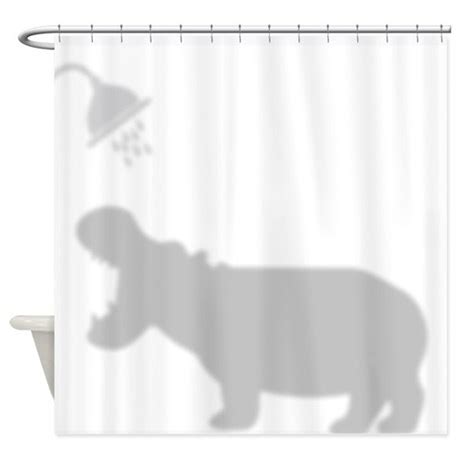 Silhouette Drapes - hippo shadow silhouette shower curtain by getyergoat