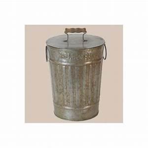 Petite Poubelle Cuisine : poubelle de salle de bain r tro wc d co zinc en vente dans la boutique ~ Nature-et-papiers.com Idées de Décoration