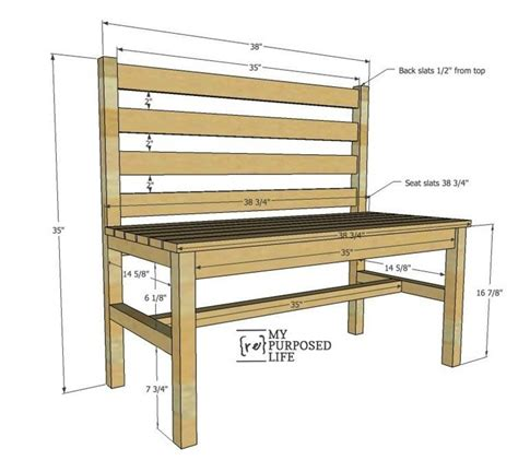 wooden slat bench plans rustic bench
