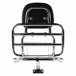 Prima Rear Rack  Backrest Chome   Vespa Lx50 And 150 Scooterworks Usa