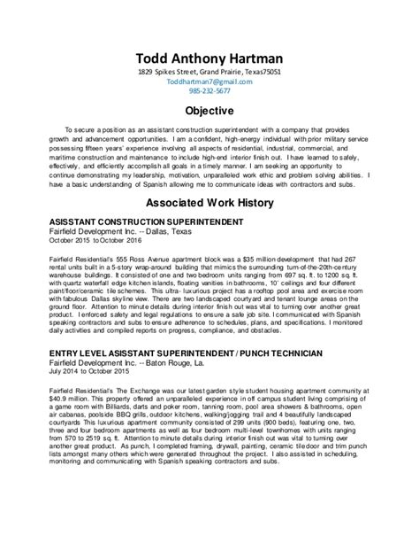 Construction Superintendent Resume by 1 Construction Superintendent Resume Docx 2