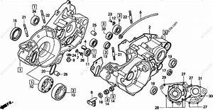 Honda Motorcycle 1998 Oem Parts Diagram For Crankcase