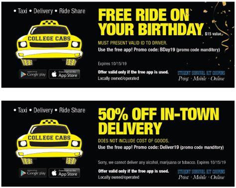 college cabs coupon palouse survival kit