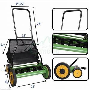 Easy Use Lawn Mower 20 U0026quot  Classic Hand Push Reel W Grass