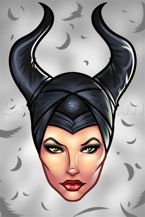 draw maleficent easy step  step disney