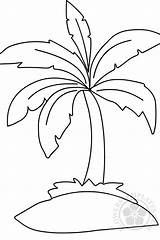 Palm Tree Coloring Pages Flowers Printable sketch template