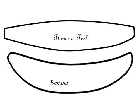banana template felt banana tutorial ohayo okasan