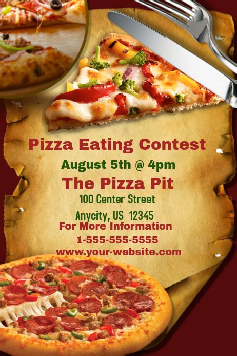 pizza eating contest template postermywall