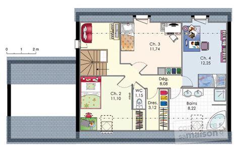 plan de maison contemporaine 4 chambres maison moderne de quatre chambres dé du plan de