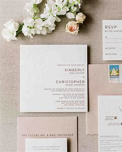 Rose gold wedding ideas that make a statement martha stew for Wedding invitation kits martha stewart