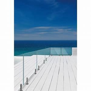 Garde Corps Terrasse Inox : pince verre en inox pour garde corps de terrasse et piscine ~ Melissatoandfro.com Idées de Décoration