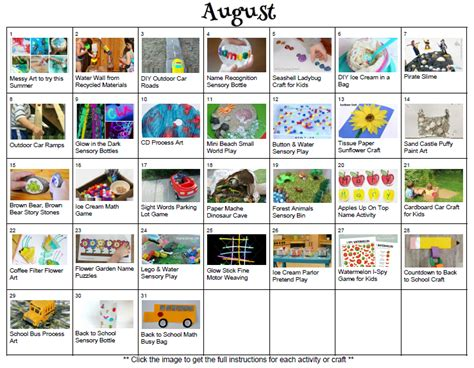 31 awesome activities for august where imagination 378 | August activity calendar kids activities summer