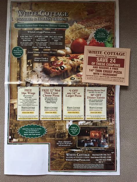 cottage pizza menu with coupons yelp