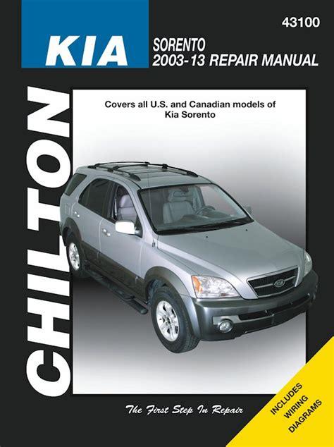 car manuals free online 2008 kia sorento electronic toll collection kia sorento repair manual by chilton 2003 2013 themotorbookstore com