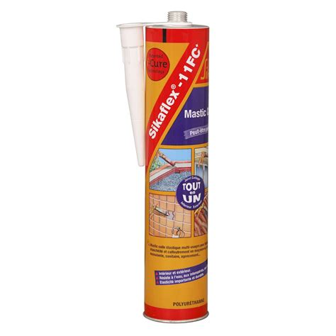 mastic colle sika sikaflex 11fc 300 ml gris leroy merlin
