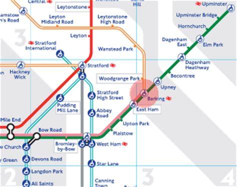 Barking station map - London Underground Tube