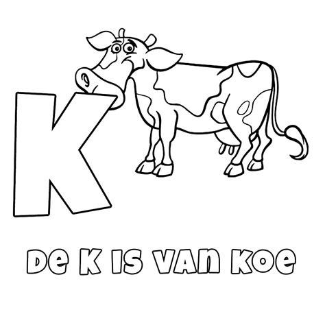 Kleurplaat Koe Zonder Vlekken by Leuk Voor De K Is Koe