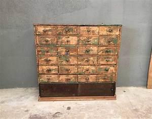 ancien meuble de metier 24 tiroirs With meuble ancien