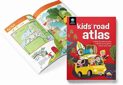 Activity Books Maps Road State Street Rand