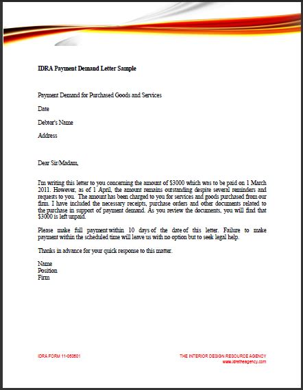 demand for payment letter sle business letter demand payment sle business letter 11445