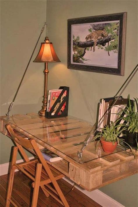 pallet wall desk design pallets designs