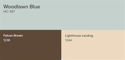 Benjamin Moore Woodlawn Blue Paint Color Schemes