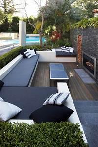 idee amenagement jardin moderne eclairage exterieur With amenagement exterieur jardin moderne