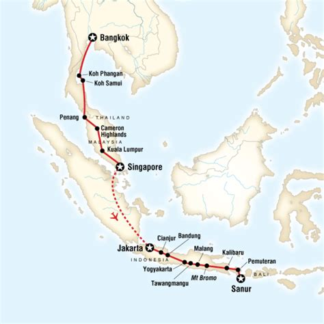 map   route  bali asia travel backpacking