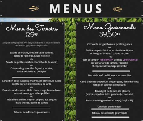 Carte De Menu Restaurant Original by Auberge Restaurant L Amandin 224 Beaucaire Carte Menu Et