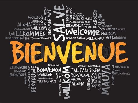 Bienvenue (Welcome in French) word ...   Stock vector ...